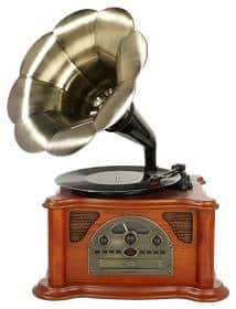 Grammophon kaufen - Plattenspieler im Grammophon Design