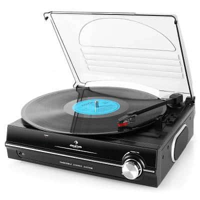 Auna TBA-298  Plattenspieler mit integriertem Lautsprecher