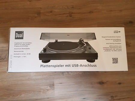 Dual DT 250 Plattenspieler USB vorne